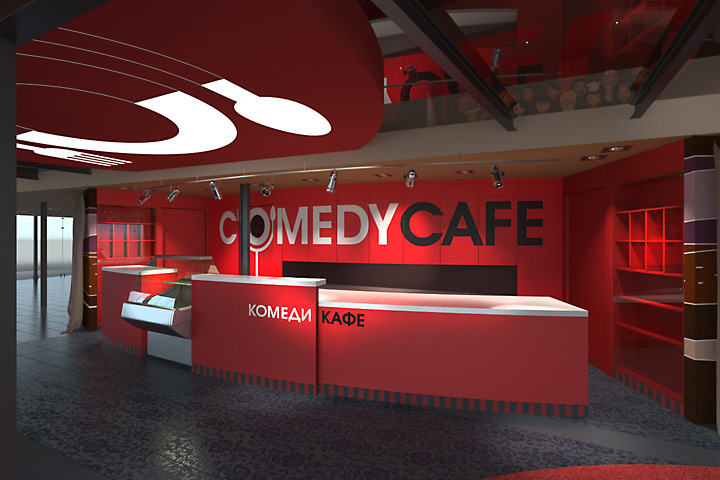 making of the comedy cafe exterior and interior design