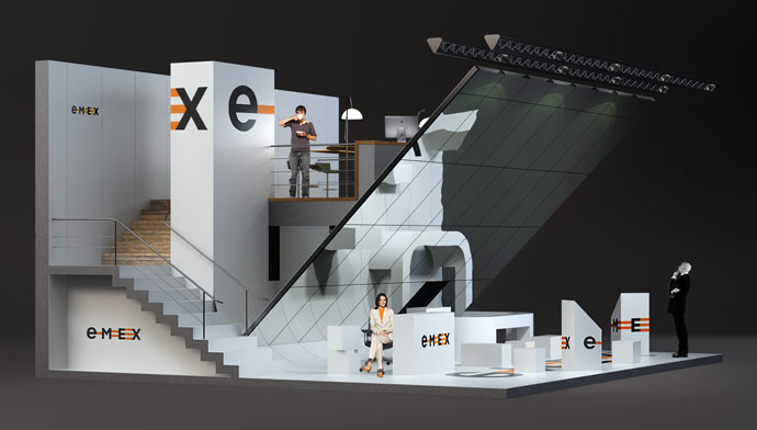 Exhibition Stand On : Emex exhibition stand