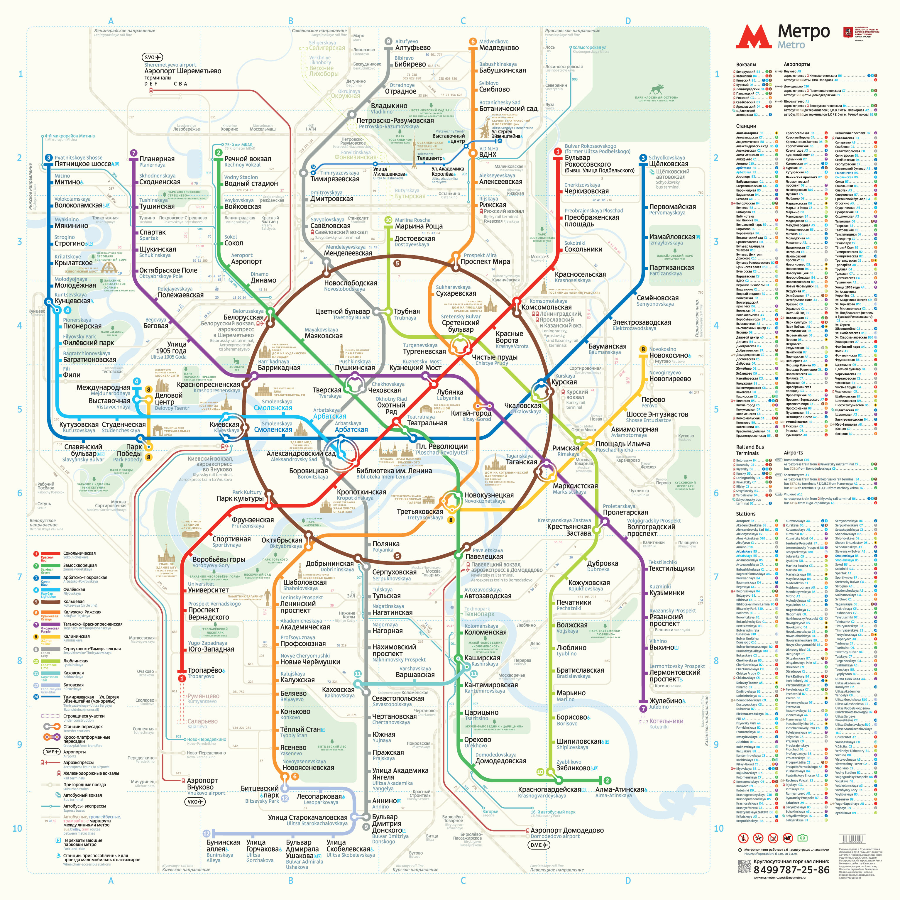 Moscow Subway Map - Bing images