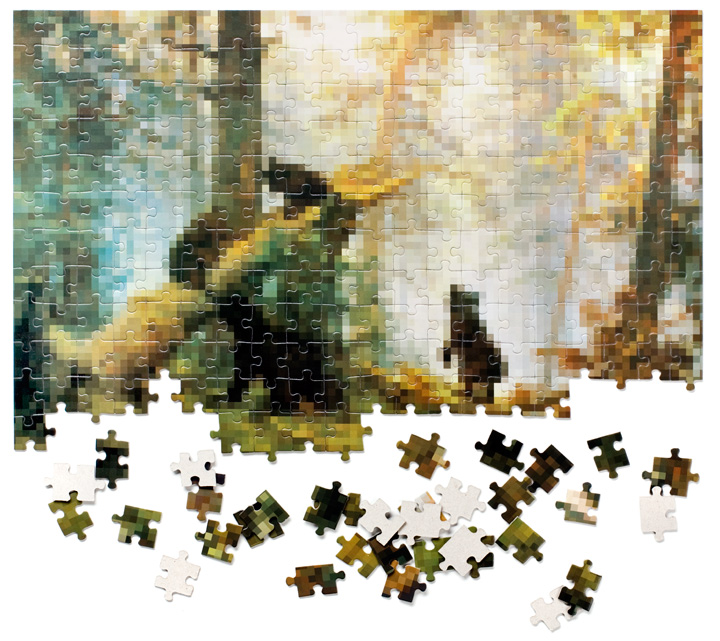 Morning In A Pine Forest Jigsaw Puzzle