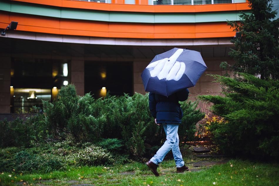 fuck the rain umbrella