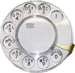 typical american rotary dial of a city telephone set western electric model princess 1963 usa rotary dial without letters