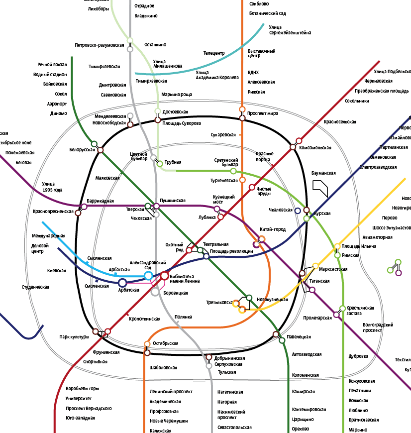 Subway Map Design.Making Of The Moscow Metro Map