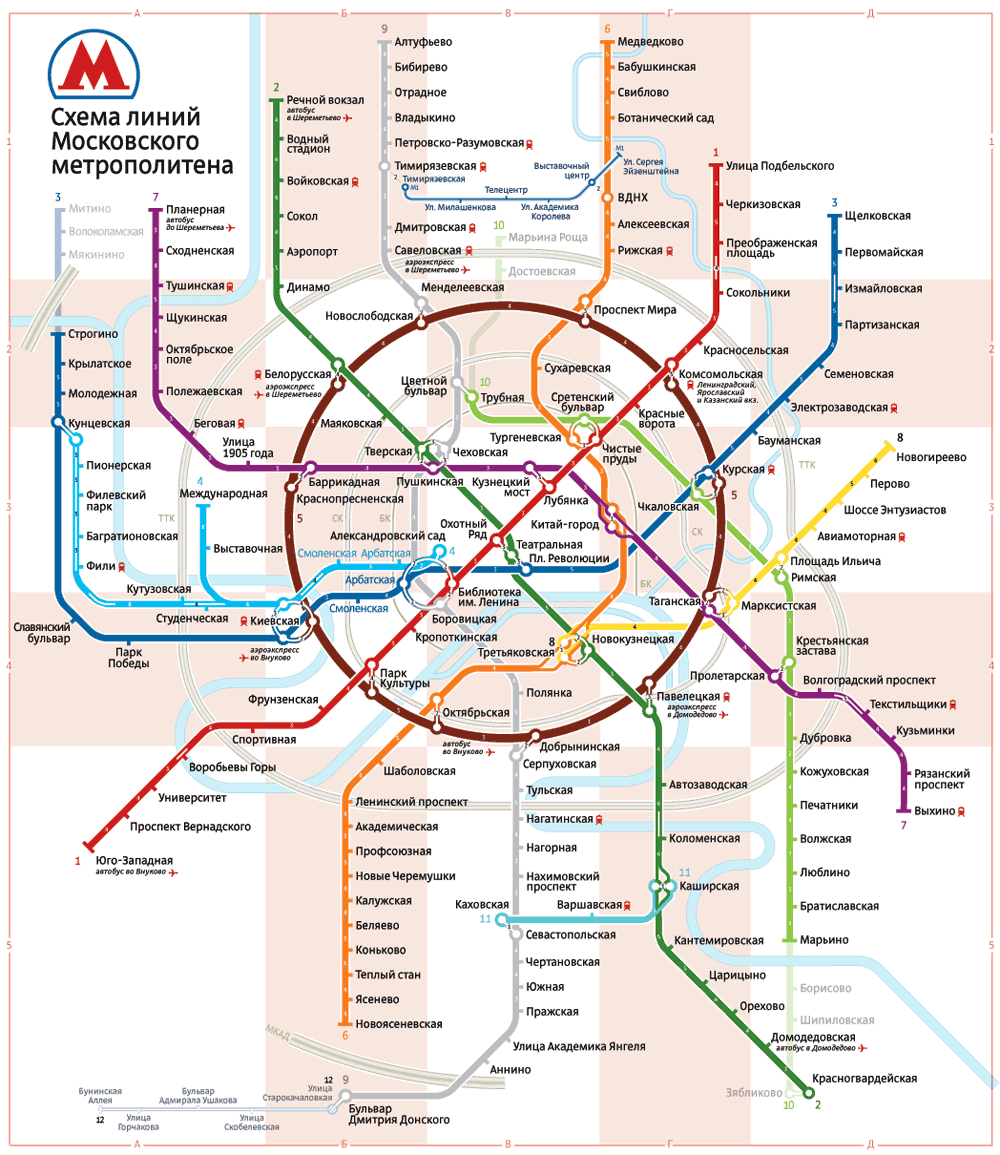 Making Of The Moscow Metro Map - Us metro map