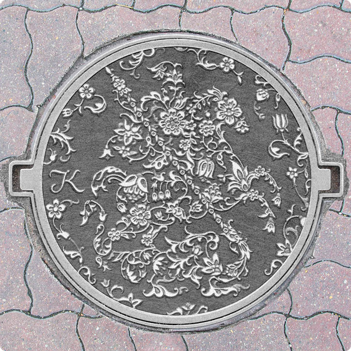 moscow manhole cover design