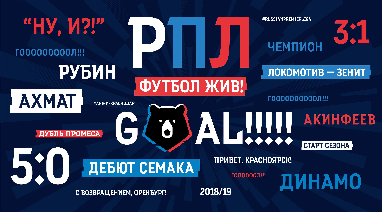 Russian Premier League Typeface